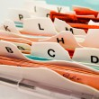 Alphabetical index cards. customer data in abc — Stock Photo #10427324