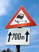 Skidding trafik işaretleri — Stok fotoğraf