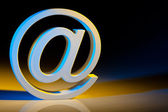 E-mail characters. online communications. — Stock Photo
