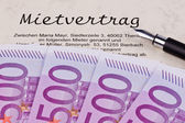 Euro notes and lease — Stock Photo
