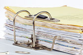 File folder with documents and documents — Stock Photo