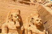 Egipto, templos de la roca de abu simbel — Foto de Stock