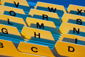 Alphabetical index — Stock Photo