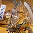 Jar with coins. inscription retirement / pension - Stock Photo