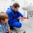 Sink plumbing repairs - Zdjcie stockowe