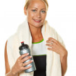 Sporty young woman after workout — Stock Photo