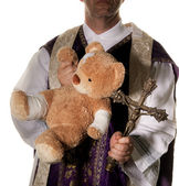 Icon for abuse in the catholic church — Stock Photo