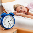 Clock with sleep at night. — Stock Photo #10581048