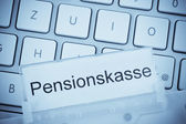 Briefcase on the subject: pension fund — Stock Photo