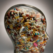 Stock Photo: Drugs and pills to cure