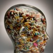 Drugs and pills to cure - Stok fotoraf