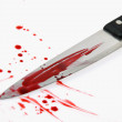 Knife with blood. kriminalitãƒâ ¤ t. murder weapon. — Stock Photo #8140711