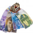 Financing with swiss francs. — Stock Photo