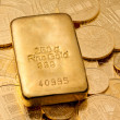 Royalty-Free Stock Photo: Investment in real gold than gold bullion and gold coins