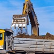 Excavators at work at construction site — Stock Photo #8140946