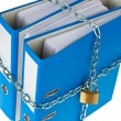 Stock Photo: File folders locked with chain