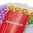 Stock Photo: Euro banknotes and savings account