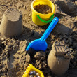 Sand toys on the beach — Stock Photo