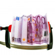 Royalty-Free Stock Photo: Euro banknote in clamp