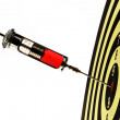 Syringe injection into a target — Stock Photo