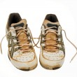 Old tennis shoes — Stock Photo