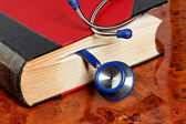 Stethoscope is a medical book — Stock Photo