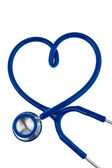 Heart-shaped stethoscope — Stock Photo