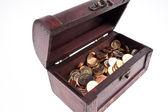 Skarb monet — Zdjęcie stockowe