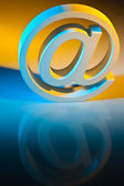 E-mail sign. online communications. — Stock Photo