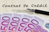 Credit agreement (french) — Stock Photo