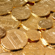 Investment in real gold than gold coins — Stock Photo