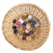 Royalty-Free Stock Photo: Donation basket for collection. monetary donation to €