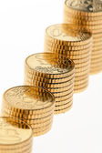 Stack of euro coins — Stock Photo