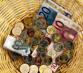 Donation basket for collection. — Stock Photo