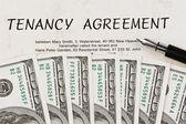 U.s. dollars bills and employment — Stock Photo