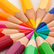 Royalty-Free Stock Photo: Colored pencils on a white background