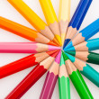 Colored pencils on a white background — Stock Photo #8161436