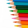 Colored pencils on a white background — Stock Photo