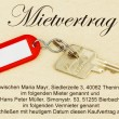 Apartment keys and rental agreement — Stock Photo #8161964