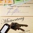 Apartment keys and rental agreement — Stock Photo #8162028