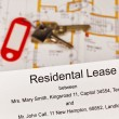 Stock Photo: Rental agreement in english