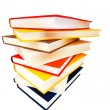 Book stack isolated on white background — Stock Photo
