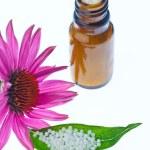 Homeopathy. globules as alternative medicine — Stock Photo