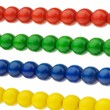 Abacus with multicolored beads - Stock Photo