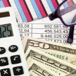 Stock Photo: Calculators, and statistics