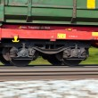 Freight train on rails — Stock Photo