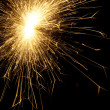 Sparkler on christmas — Stock Photo