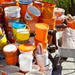 Paint bucket after renovation — Stockfoto