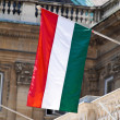 Hungarian national flag — Stock Photo