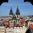 Prague, old town square, tyn church — Stock Photo #8166916